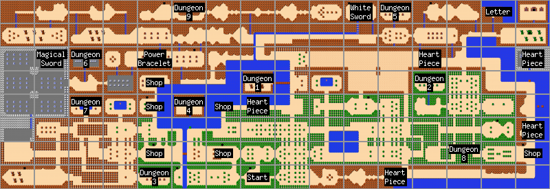 Zelda Overworld Map Tojicode More Gpu Tile Map Demos Zelda Smash