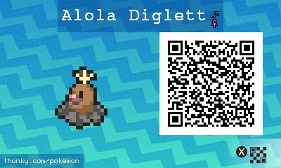 Diglett QR Codes - Pokémon Sun and Moon Walkthrough