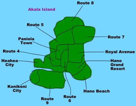 Pokemon Sun Moon Ula Ula Island Map