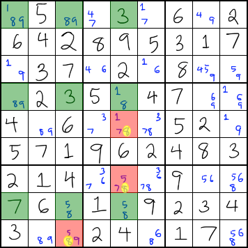 Swordfish Strategy - Sudoku