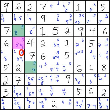 XYZ-Wing Strategy - Sudoku